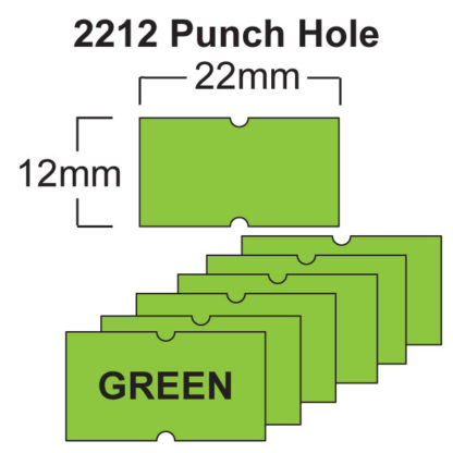 Green CT1 22 x 12mm Price Gun Labels