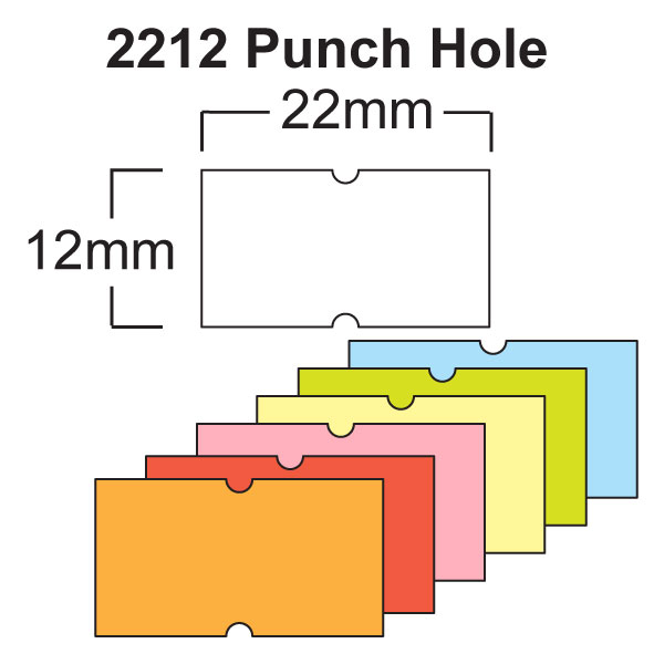 CT1 22 x 12mm Price Gun Labels