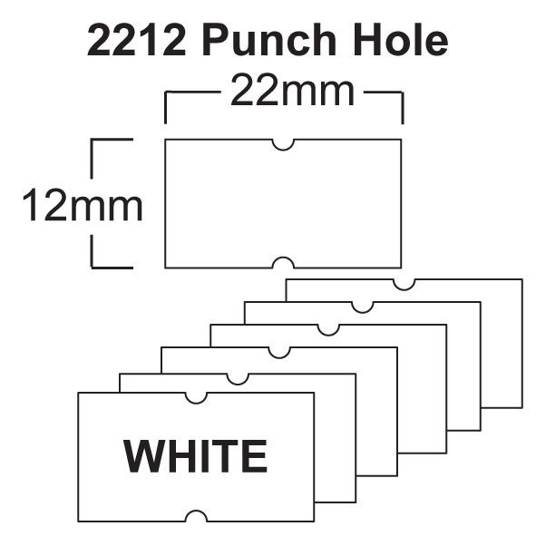 White CT1 22 x 12mm Price Gun Labels