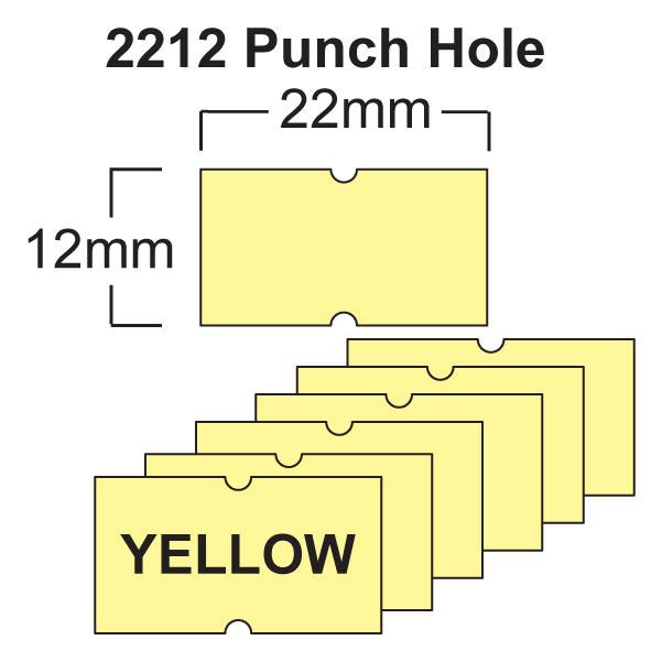 Yellow CT1 22 x 12mm Price Gun Labels
