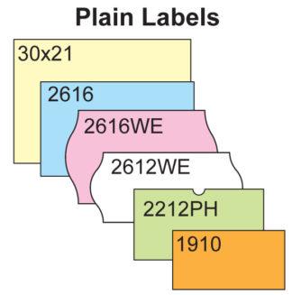 Plain Price Gun Labels