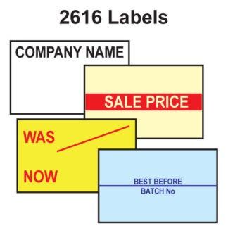 CT7 26 x 16mm Labels