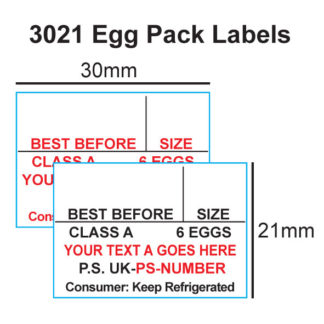 CT16 30 x 21mm Labels
