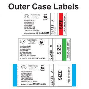 egg packaging outer case labels