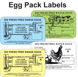 Egg Box Labels