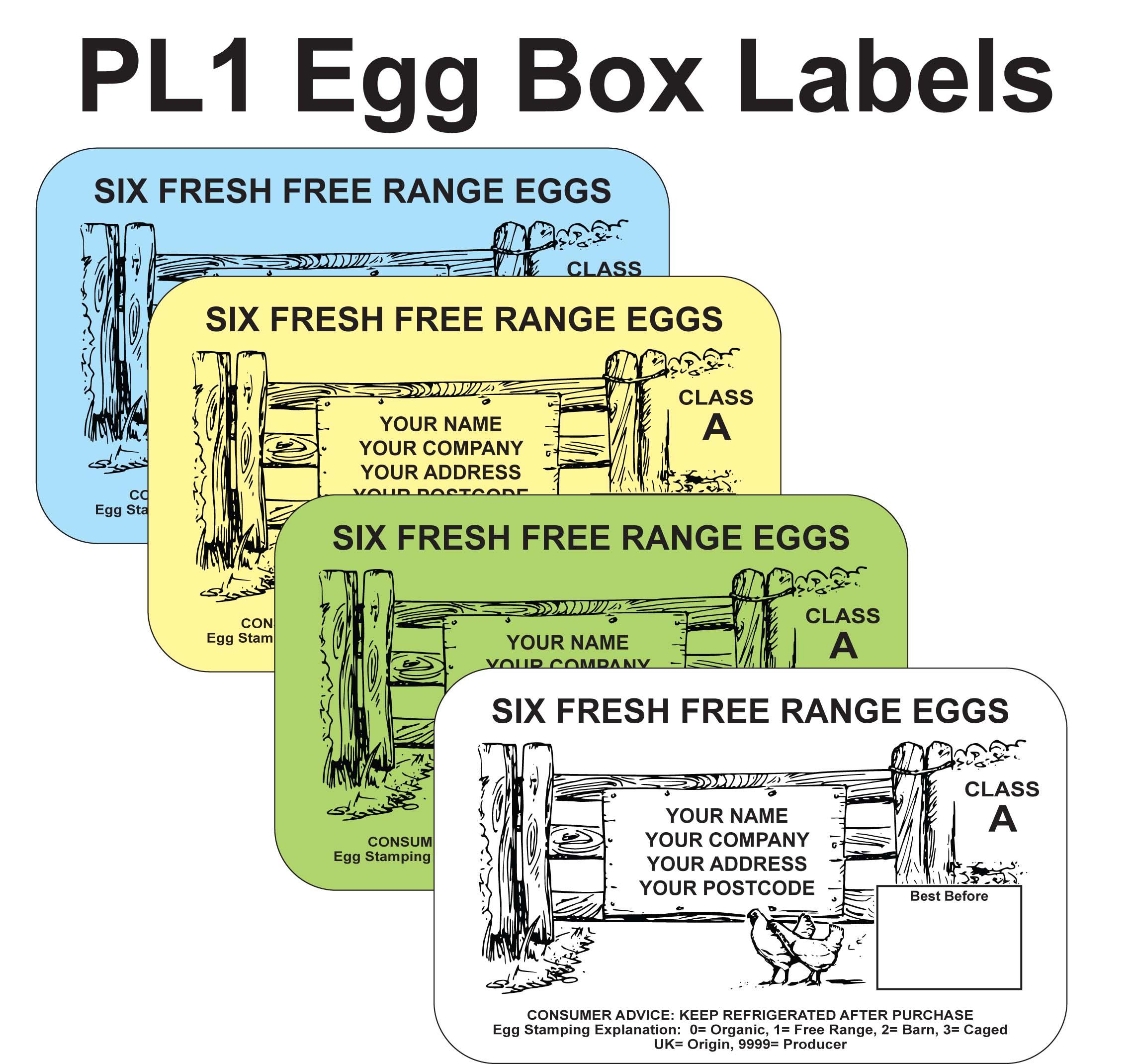 PL1 Egg Box Labels (x3000