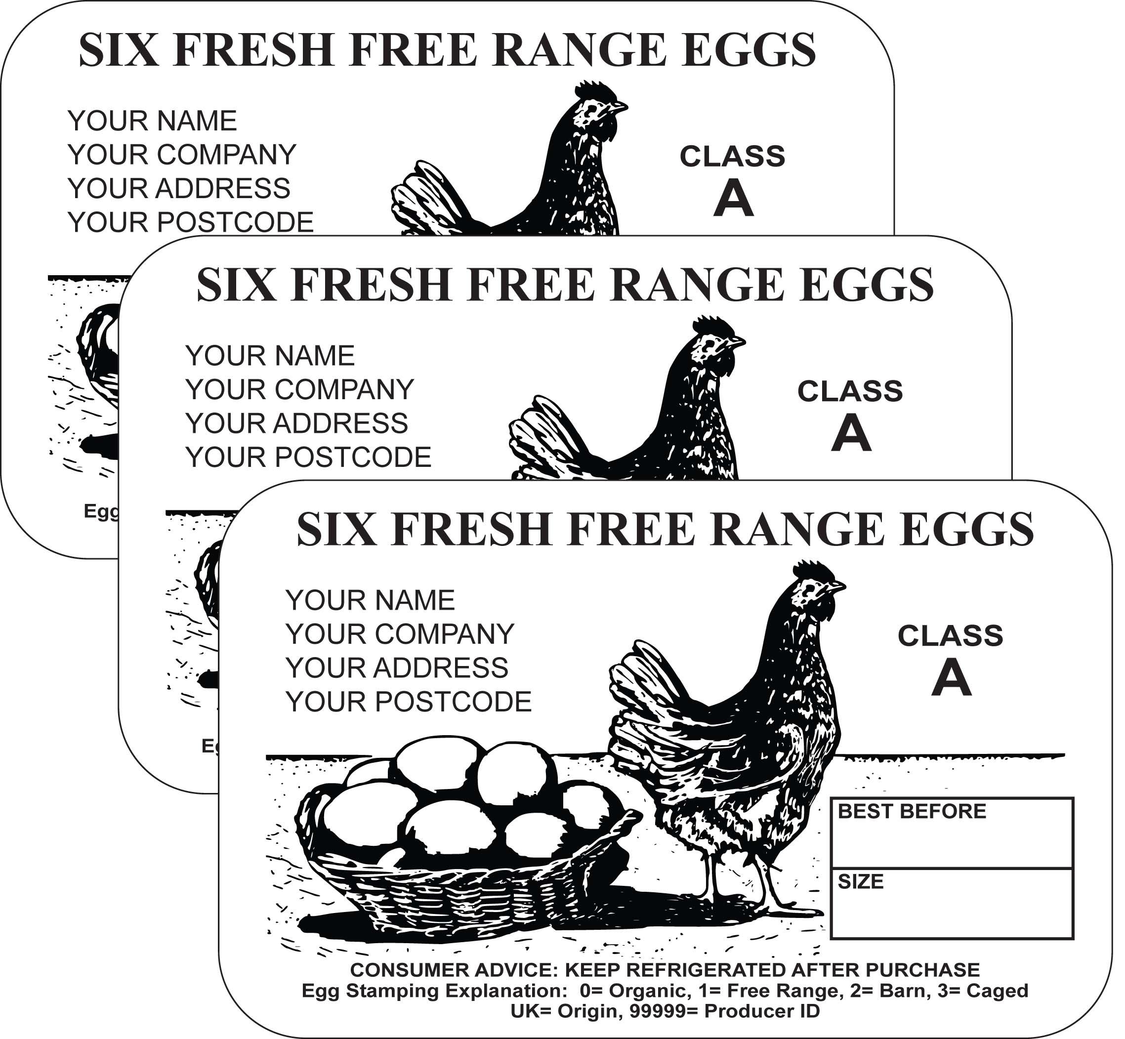 PL3 Egg Box Labels (x3000
