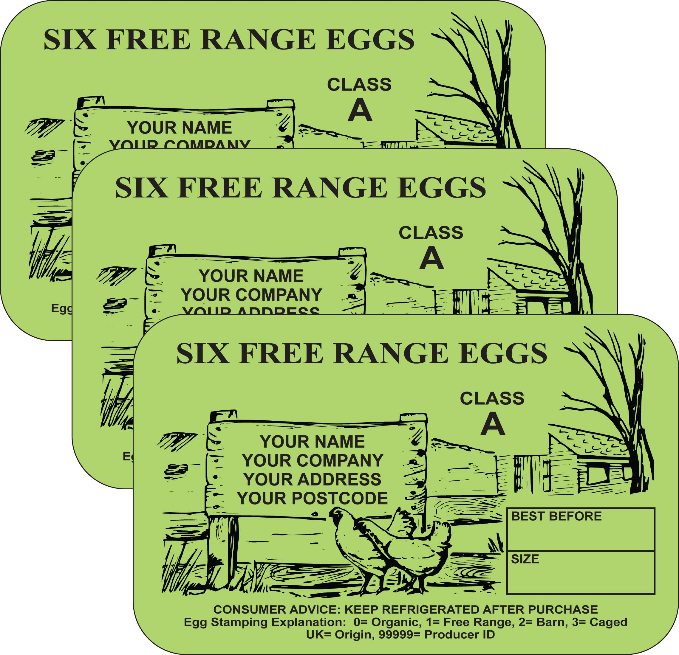 PL4 Egg Box Labels (x3000