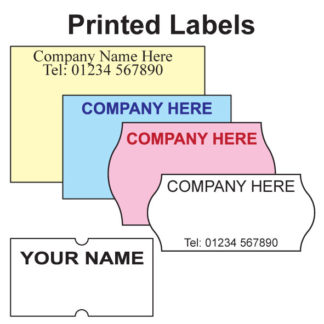 Printed Price Gun Labels