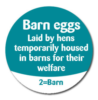 Bird Flu Barn Eggs Advisory Labels