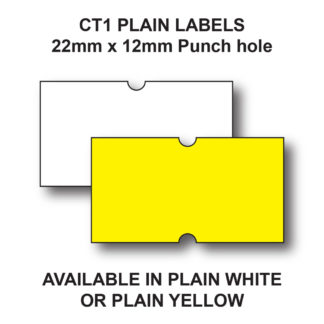 CT1 22 x 12mm White or Yellow price guns labels