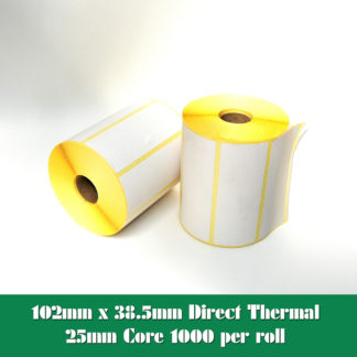 102x38 Direct Thermal Labels - 4x1.5 Direct Thermal Labels