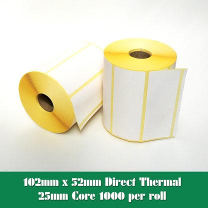 102x52 Direct Thermal Labels - 4x2 Direct Thermal Labels