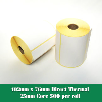 102 x 76mm direct thermal labels