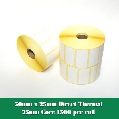 50 x 25mm direct thermal labels
