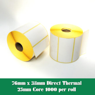 76 x 38mm direct thermal labels