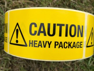 Caution Heavy Package Label from our Handling & Shipping Labels Range