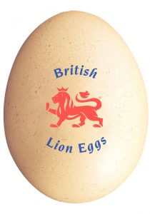 egg box labelling - british lion egg logo