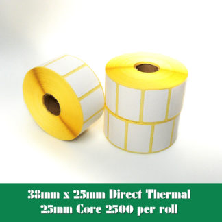 38x25mm direct thermal labels
