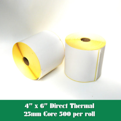 """4 x 6"""" direct thermal labels"""