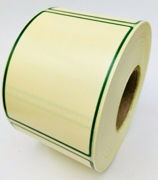 Avery Berkel Thermal Scale Labels - 58 x 76mm, 18 Rolls, 9,000 Labels - Printed Cream Green