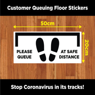 Covid-19 Floor labels to show safe Social Distancing
