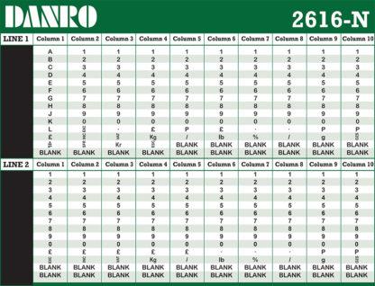 Danro 2616N Labelling Gun bands