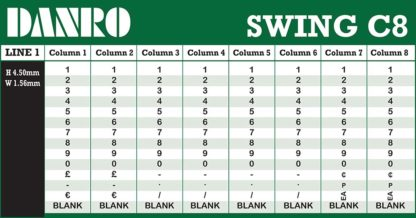 Swing C8 Labelling Gun Band Layout