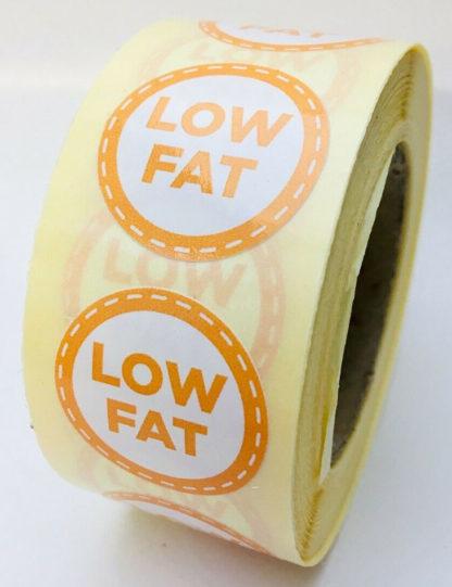 Low fat Labels - 25mm diameter