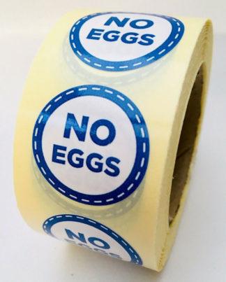 No eggs labels - 25mm diameter