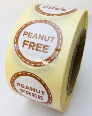 Peanut free labels - 25mm diameter