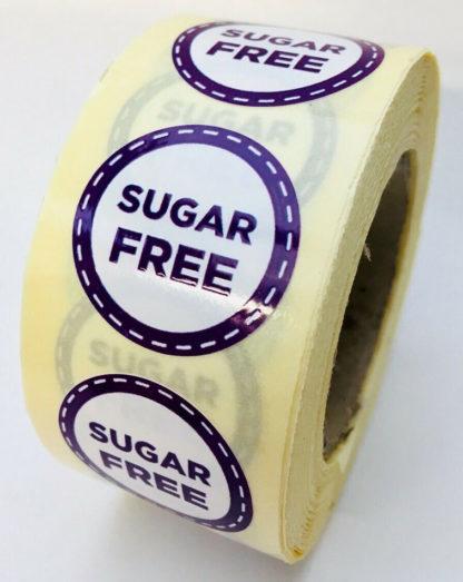Sugar free labels - 25mm diameter