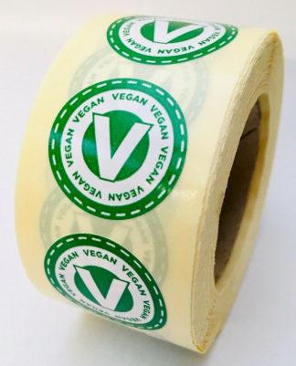 Vegan labels - 25mm diameter